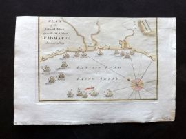 Field of Mars 1801 Map. Plan of the General Attack upon the Island of Guadeloupe